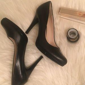 Black Nine West Wise Up Leather Pump Size 8